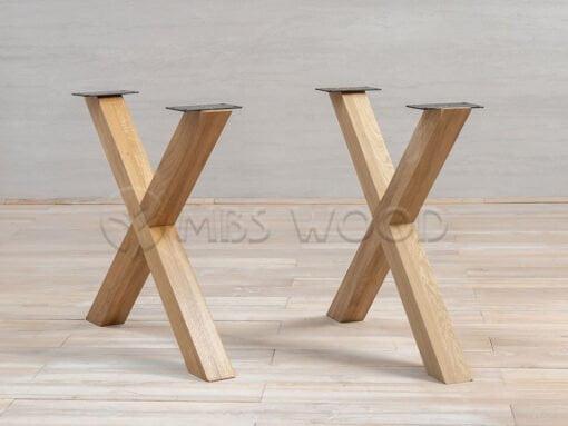 Oak Legs X-Shape